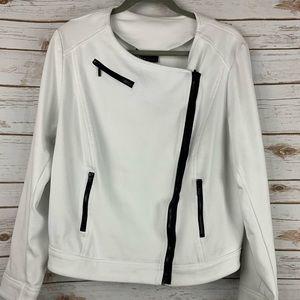 Lane Bryant size 20 sweatshirt front zip white